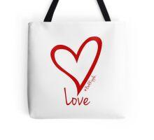LOVE....#BeARipple Red Heart on White Tote Bag