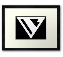 Future Superman Logo From Batman Beyond Framed Print