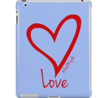 LOVE....#BeARipple Red Heart on Lavender iPad Case/Skin