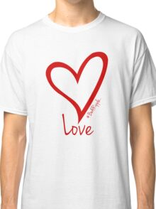 LOVE....#BeARipple Red Heart on Pink Classic T-Shirt