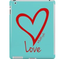 LOVE....#BeARipple Red Heart on Tiffany iPad Case/Skin