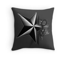 Death upon a star -woodcut- Throw Pillow
