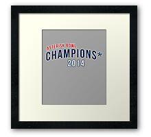 Asterisk Bowl Champions* 2014 Framed Print