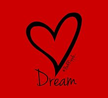 DREAM....#BeARipple Black Heart on Red by BeARipple