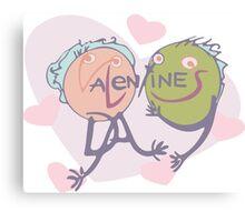 Valentine's in love Canvas Print