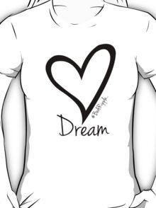 DREAM....#BeARipple Black Heart on Lavender T-Shirt