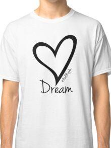 DREAM....#BeARipple Black Heart on Lavender Classic T-Shirt