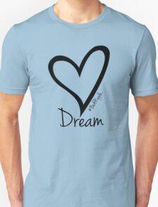 DREAM....#BeARipple Black Heart on Lavender Unisex T-Shirt