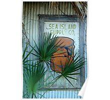 Sea Island Sign, Beaufort, South Carolina Poster
