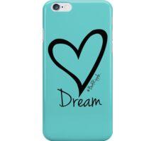 DREAM....#BeARipple Black Heart on Tiffany iPhone Case/Skin