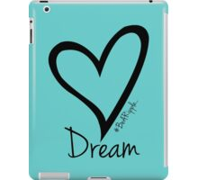 DREAM....#BeARipple Black Heart on Tiffany iPad Case/Skin