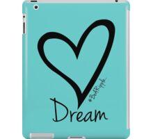 DREAM....#BeARipple Black Heart on Tiffany iPad Case/Skin