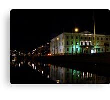 Natt kanal Canvas Print