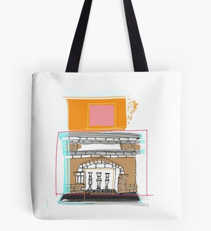 Brandon's Fire Place Tote Bag