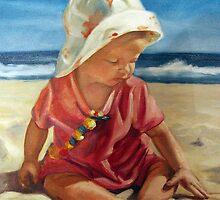 at the beach b by Günter Maria  Knauth