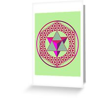 Flower of Life & Star Tetrahedron  Greeting Card