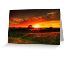 Hill of Tara Sunset 20th June 2008 Greeting Card