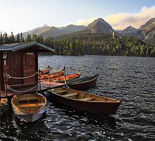 Boathouse at Strbske Pleso by hynek