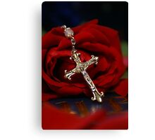 Rosary Rose Canvas Print