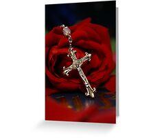 Rosary Rose Greeting Card