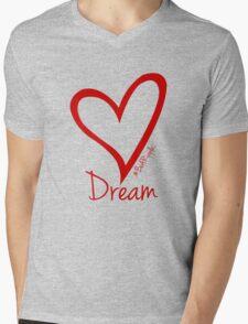 DREAM....#BeARipple Red Heart on Tiffany Mens V-Neck T-Shirt