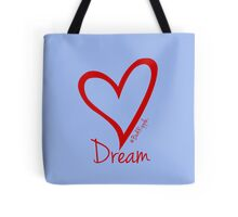 DREAM....#BeARipple Red Heart on Lavender Tote Bag