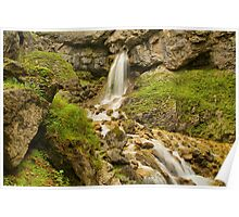 Gordale Upper Waterfall 1 Poster