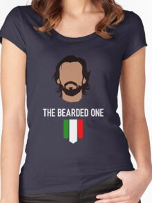 The bearded one - pirlo Women's Fitted Scoop T-Shirt