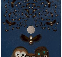 Owls Family Flying by FUNCTIONALFOX