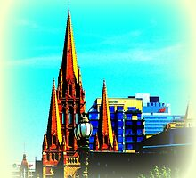St Paul's Cathedral Spire, Melbourne, Australia  by SpikeyRose
