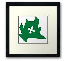 emblem of lombardy region, sharp edges, vector Framed Print