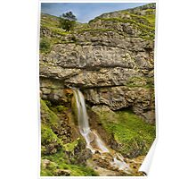 Gordale Upper Waterfall 3 Poster