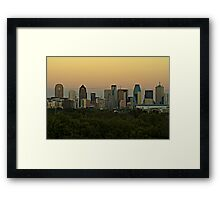 Dallas Sunset HDR Framed Print