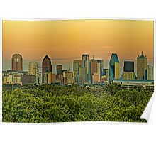 Dallas Sunset HDR & Topaz Filter Poster