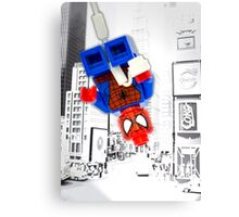 Lego Spiderman (without border) Canvas Print
