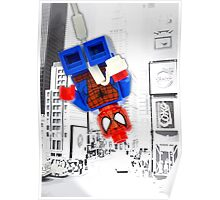 Lego Spiderman (without border) Poster