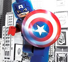 Lego Captain America by steinbock