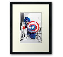 Lego Captain America Framed Print