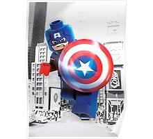 Lego Captain America Poster