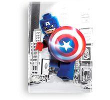 Lego Captain America (with border) Canvas Print