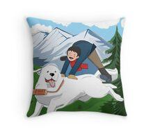 Belle et Sébastien  Throw Pillow