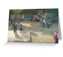 Schoolyard in Egypt Greeting Card