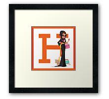 Hermes Luxury shopper Framed Print