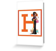 Hermes Luxury shopper Greeting Card