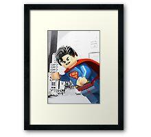 Lego Superman Framed Print