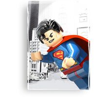 Lego Superman (with border) Canvas Print