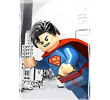 Lego Superman (with border) Photographic Print