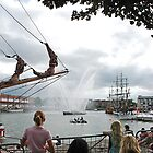 Waterspray at the Harbourside by Alex Hardie