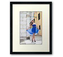 Model Framed Print