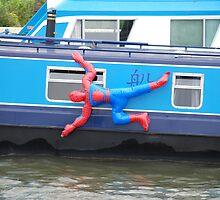 Spiderman Cleaning his Boat by Alex Hardie